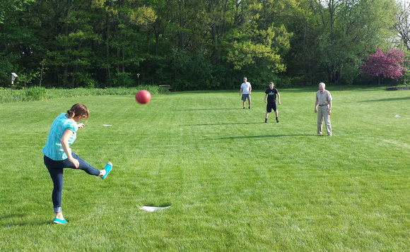 Photo-a-day #145: May 25, 2014 - Kickball